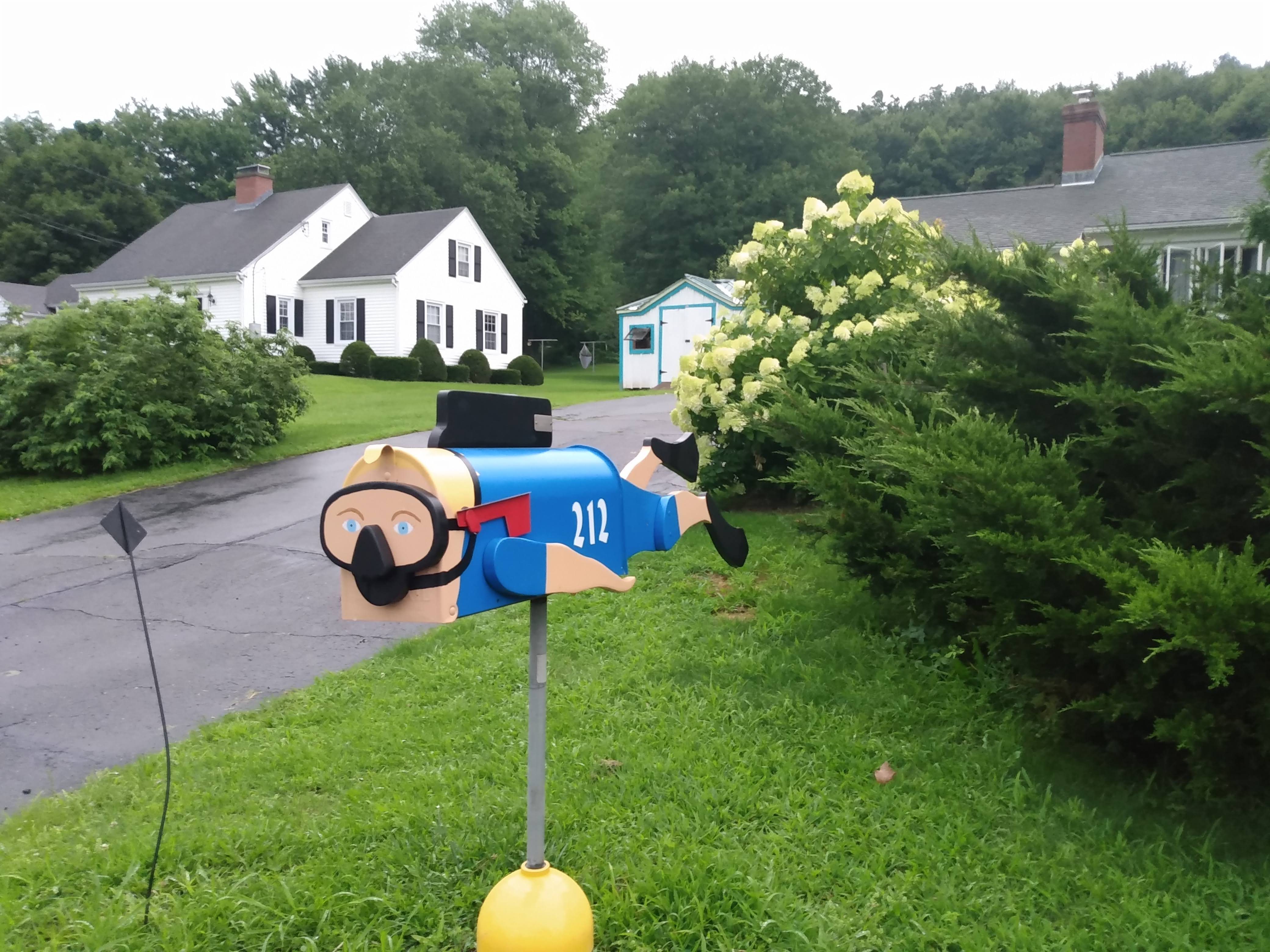 Scuba diver mailbox